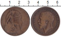 Изображение Монеты Великобритания 1 пенни 1918 Бронза VF