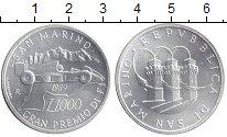 Изображение Монеты Сан-Марино 1000 лир 1989 Серебро UNC Формула 1. Гран-При