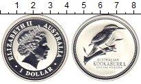 Изображение Монеты Австралия 1 доллар 2003 Серебро Proof Елизавета II. Кукаба