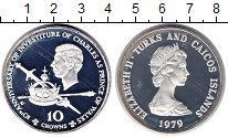 Изображение Монеты Теркc и Кайкос 10 крон 1979 Серебро Proof-