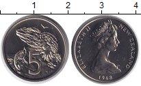 Изображение Монеты Новая Зеландия 5 центов 1968 Медно-никель UNC