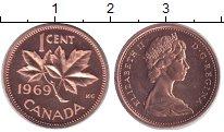 Изображение Монеты Канада 1 цент 1969 Медь UNC