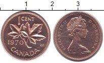 Изображение Монеты Канада 1 цент 1970 Медь UNC-