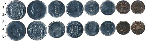 Изображение Наборы монет Бельгия Бельгия 1978 1978 Медно-никель XF В наборе 8 монет ном