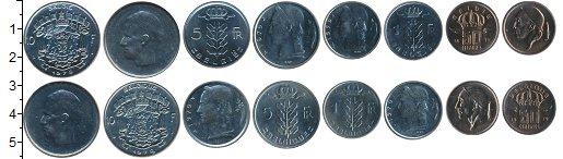 Изображение Наборы монет Бельгия Бельгия 1979 1979 Медно-никель XF В наборе 8 монет ном