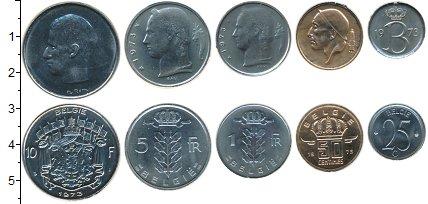 Изображение Наборы монет Бельгия Бельгия 1973 1973 Медно-никель XF В наборе 5 монет ном