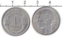 Изображение Монеты Франция 1 франк 1947 Алюминий XF