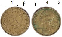 Изображение Монеты Франция 50 сантимов 1963 Медь XF