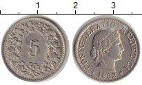 Изображение Монеты Швейцария 5 рапп 1932 Медно-никель XF