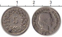 Изображение Монеты Швейцария 5 рапп 1903 Медно-никель