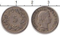 Изображение Монеты Швейцария 5 рапп 1913 Медно-никель