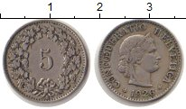 Изображение Монеты Швейцария 5 рапп 1926 Медно-никель XF