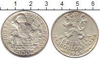 Изображение Монеты Чехия Чехословакия 100 крон 1949 Серебро XF