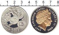 Изображение Монеты Карибы 10 долларов 2003 Серебро Proof