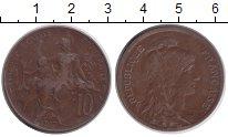 Изображение Монеты Франция 10 сантимов 1917 Медь VF