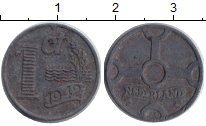 Изображение Монеты Нидерланды 1 цент 1942 Цинк XF