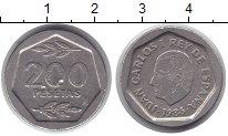 Изображение Монеты Испания 200 песет 1986 Медно-никель XF Хуан Карлос I.