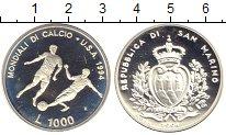 Изображение Монеты Сан-Марино 1000 лир 1994 Серебро Proof