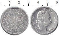 Монета Австрия 1 флорин Серебро 1877 XF фото
