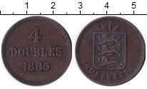 Изображение Монеты Великобритания Гернси 4 дубля 1885 Бронза XF