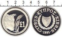Изображение Монеты Кипр 1 фунт 1995 Серебро Proof