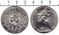 Изображение Монеты Австралия 10 долларов 1982 Серебро UNC XII Игры Содружества