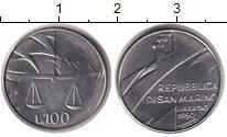 Изображение Монеты Сан-Марино 100 лир 1990 Сталь UNC-