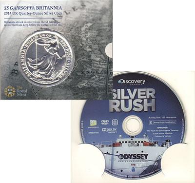 Изображение Подарочные монеты Великобритания `Торговое судно ``Герсоппа``` 2014 Серебро UNC