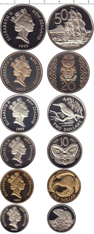 Картинка Подарочные монеты Новая Зеландия Набор 1993 года  1993