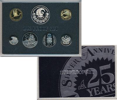 Набор монет Новая Зеландия Набор 1992 года 1992 UNC
