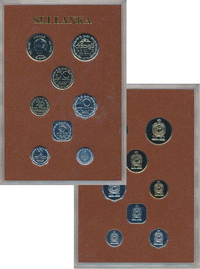 Изображение Подарочные монеты Шри-Ланка Набор 1978 года 1978  Proof В набор входят семь