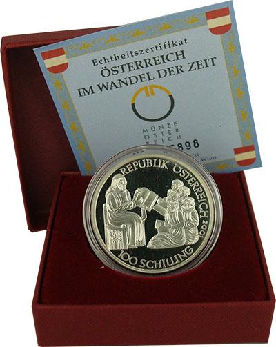 Изображение Подарочные наборы Австрия Рудольф IV 2001 Серебро Proof