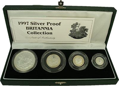 Изображение Подарочные монеты Великобритания Британния 1997 Серебро Proof В набор входят четыр