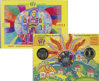 Изображение Подарочные монеты Украина Набор 2013 года 2013  Prooflike Набор состоит из дву