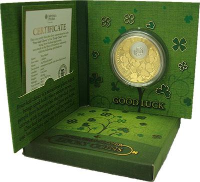 Изображение Подарочные монеты Ниуэ Монета на удачу 2013 Серебро Proof Монета номиналом 2 д