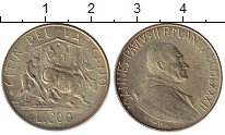 Изображение Монеты Ватикан 200 лир 1982 Латунь XF