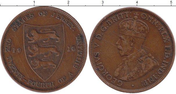 Картинка Монеты Остров Джерси 1/24 шиллинга Медь 1915