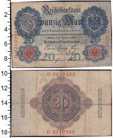 Изображение Боны Германия 20 марок 1908  VF