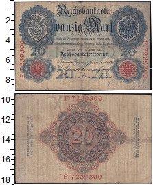 Изображение Банкноты Германия 20 марок 1910  XF Выпуск 21 апреля 191