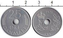 Изображение Монеты Дания 25 эре 1976 Медно-никель XF