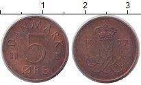 Изображение Монеты Дания 5 эре 1977 Медь XF
