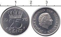 Изображение Монеты Нидерланды 25 центов 1976 Медно-никель UNC-