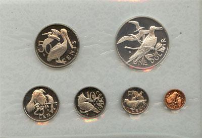 Изображение Подарочные монеты Виргинские острова Пруф выпуск 1973 года 1973  Proof Представляем вашему
