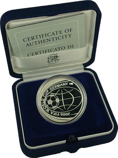 """Изображение Подарочные монеты Италия 5 евро 2006 Серебро Proof """"Монета посвящена че"""