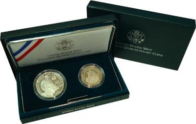 Изображение Подарочные монеты США 500-летие открытия Колумба 1992  Proof