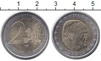Изображение Монеты Монако 2 евро 2001 Биметалл XF