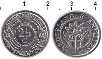 Изображение Мелочь Нидерланды Антильские острова 25 центов 1992 Медно-никель