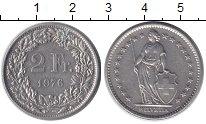 Изображение Монеты Швейцария 2 франка 1976 Медно-никель XF