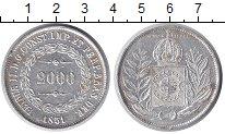 Изображение Монеты Бразилия 2000 рейс 1851 Серебро VF