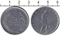 Изображение Монеты Турция 2 1/2 лиры 1971 Сталь XF